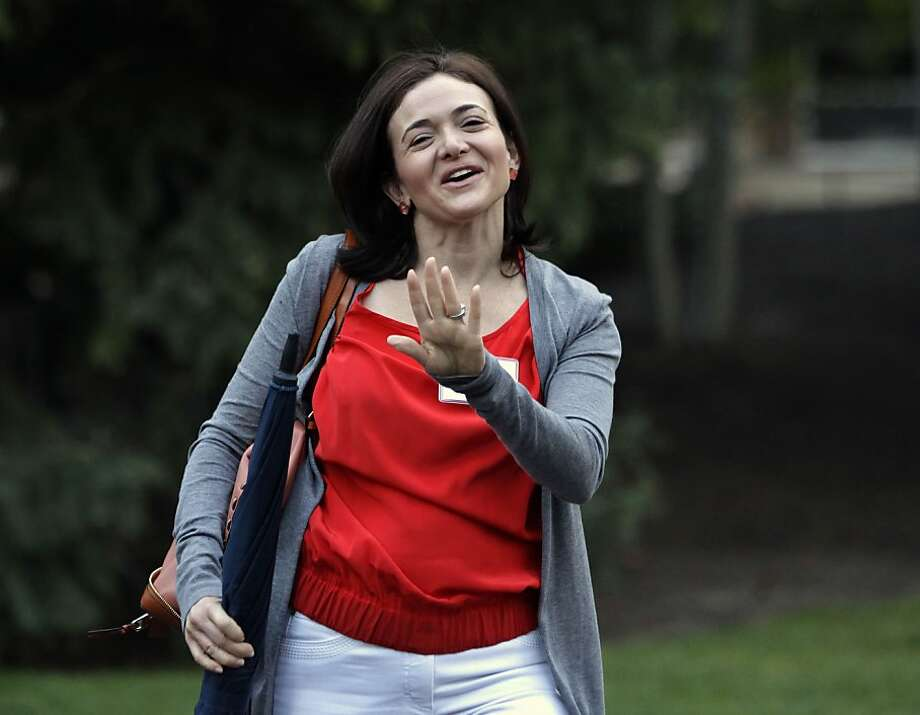 Sheryl Sandberg of Facebook is one of few women in today's executive suites. Photo: Paul Sakuma, Associated Press