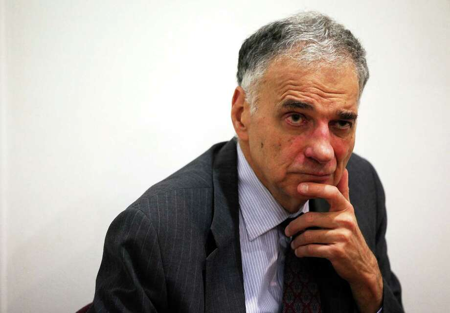 Former presidential candidate Ralph Nader listens during a news conference July 2, 2012 at Public Citizen in Washington, DC. Photo: Alex Wong, Alex Wong/Getty Images / 2012 Getty Images