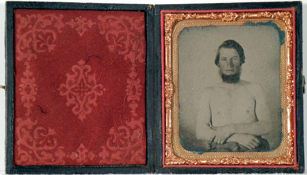 A tinted ambrotype, circa 1865, was given to the museum by Mrs. Ben A. Franks.