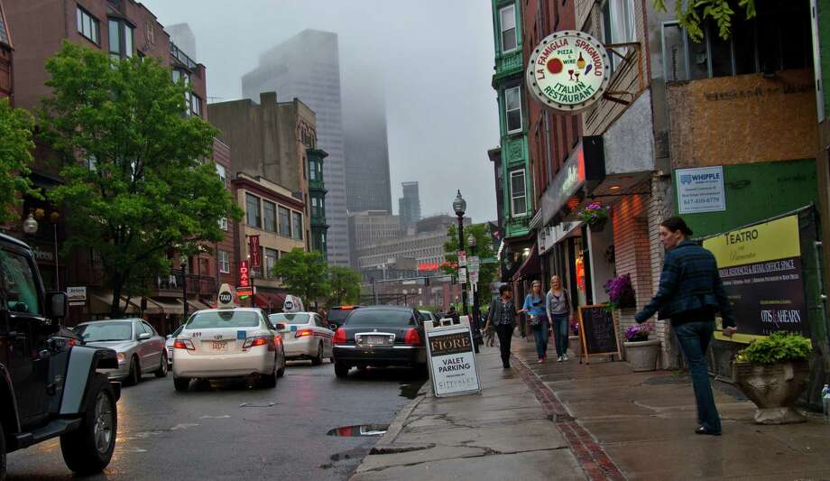 Hanover Street in Boston's North End is lined with Italian restaurants. Photo by Joshua Trudell//Special to the Express-News