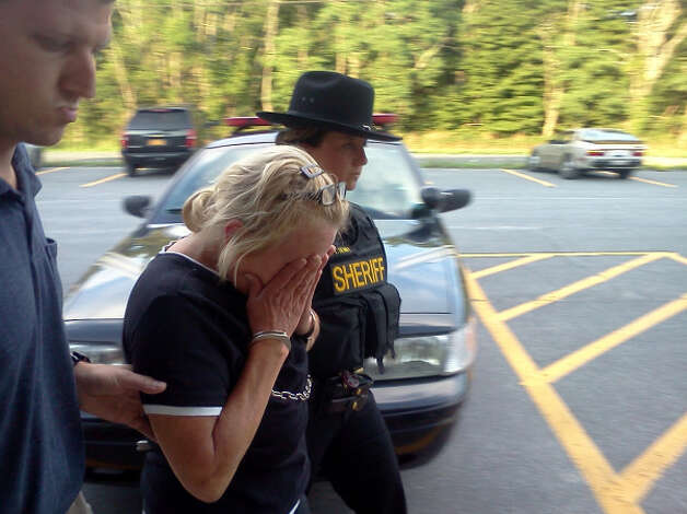 Tracey Zetzsche, charged with murdering her son, was arraigned in Westerlo Town Court Tuesday night. (Dennis Yusko)