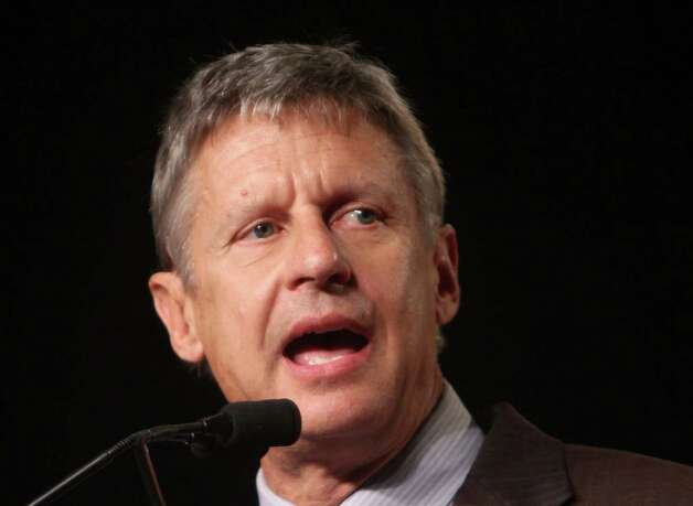 In this Sept 23, 2011 file photo, Libertarian Party presidential candidate, former New Mexico Gov. Gary Johnson speaks in Orlando, Fla. President Barack Obama's presidential campaign is paying close attention to two candidates mounting third party campaigns for the presidency, believing they could draw votes from rival Mitt Romney and help the president to victory in a few tightly contested states. Photo: Joe Burbank, AP / Pool Orlando Sentinel