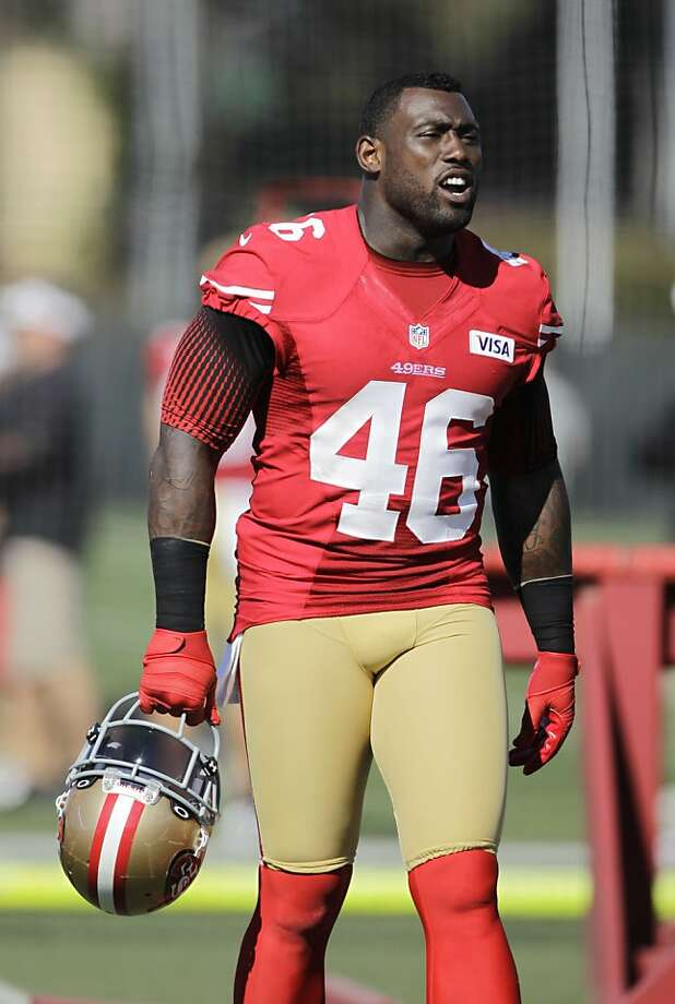 San Francisco 49ers tight end Delanie Walker during training camp at 49ers NFL football headquarters in Santa Clara, Calif., Friday, July 27, 2012. (AP Photo/Paul Sakuma) Photo: Paul Sakuma, Associated Press