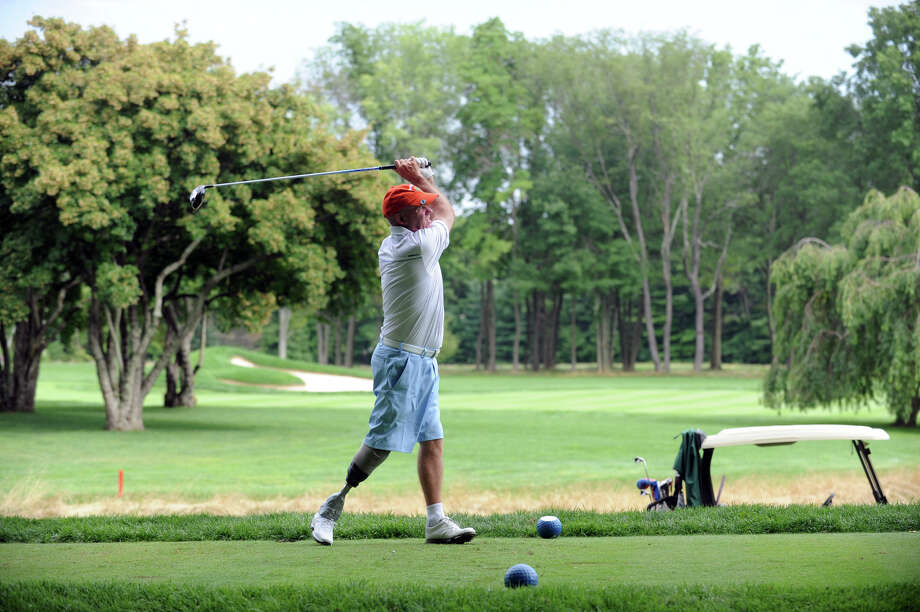 Ken Green tees off during the 78th Connecticut Open Championship at Wee Burn Country Club in Darien, Conn., July 31, 2012. Photo: Keelin Daly / Stamford Advocate