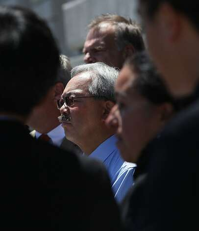 Mayor Ed Lee in front of San Francisco city hall in July. Photo: Liz Hafalia, The Chronicle