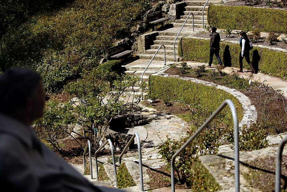 The Berkeley Rose Garden terraces are steps away from the Rose Walk. Photo: Siana Hristova, The Chronicle