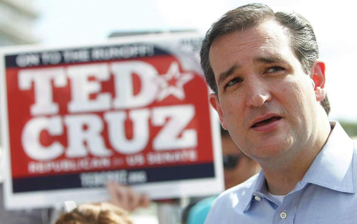 Ted Cruz, Republican candidate for U.S. Senate, addresses the media as he visits voters at St. Martin's Episcopal Church on Tuesday, July 31, 2012, in Houston.