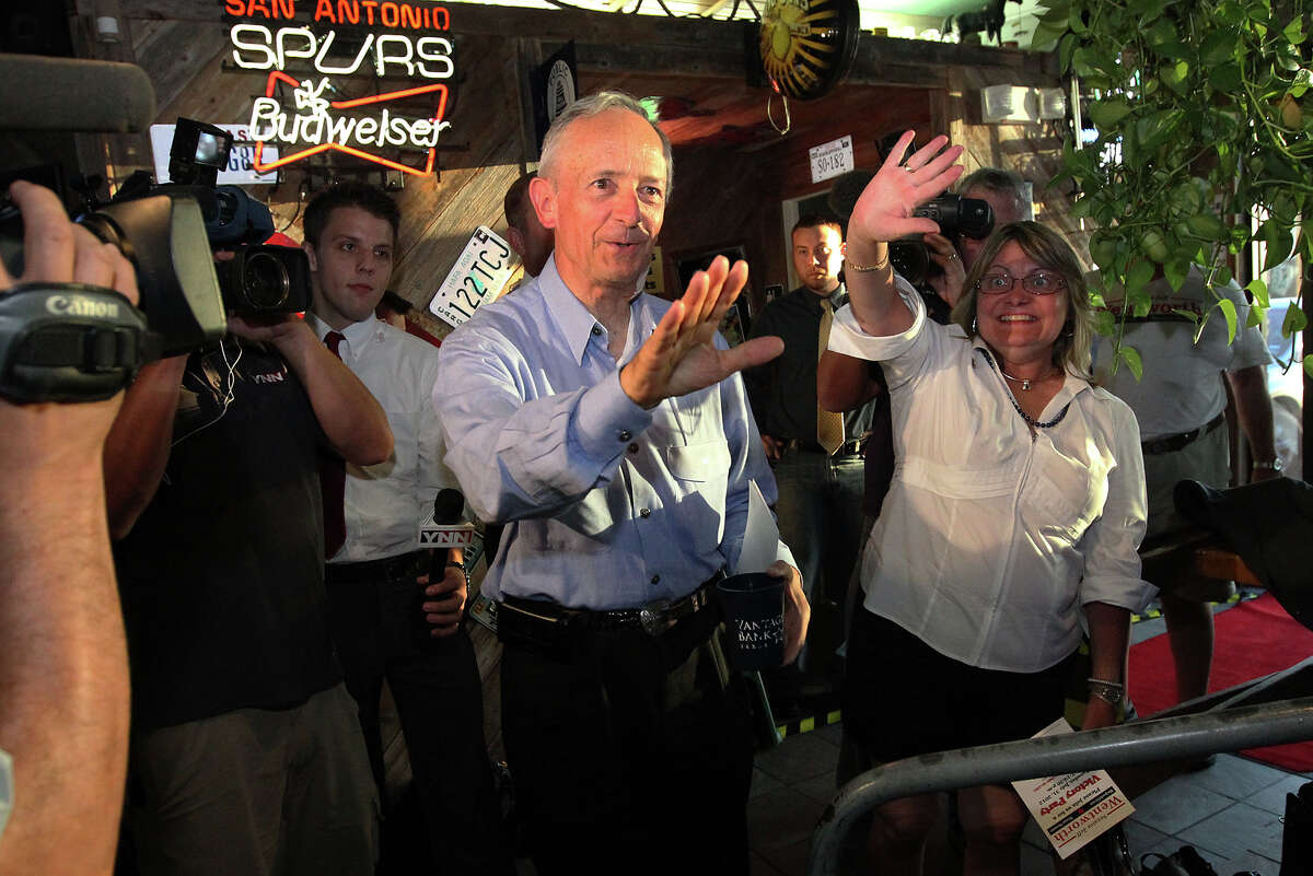 Texas Senator Jeff Wentworth and his wife, Karla, greet supporters at Chester's Hamburgers while awaiting results from the District 25 runoff election on Tuesday, July 31, 2012. Wentworth lost the race to Dr. Donna Campbell. Wentworth, 71, served in the Texas House since 1988. He has been a state senator since 1993.