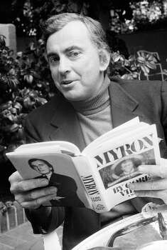 This 1977 file photo shows author Gore Vidal. Vidal died Tuesday, July 31, 2012, at his home in Los Angeles. He was 86. Photo: AP
