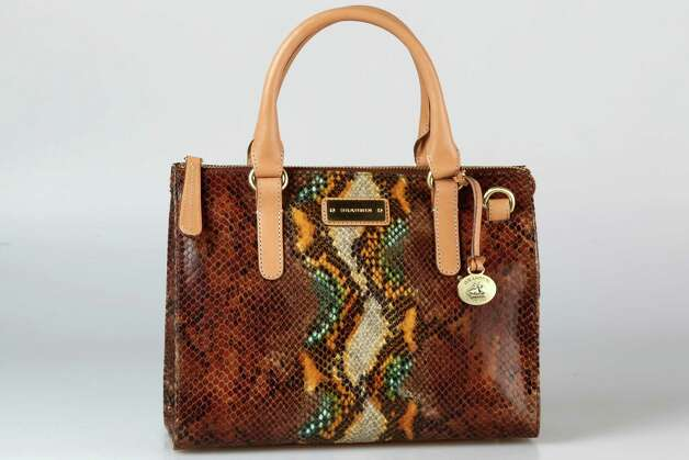 Brahmin colorized snakeskin print bag, $325, Dillard's Photo: Julysa Sosa, Staff / © 2012 San Antonio Express-News