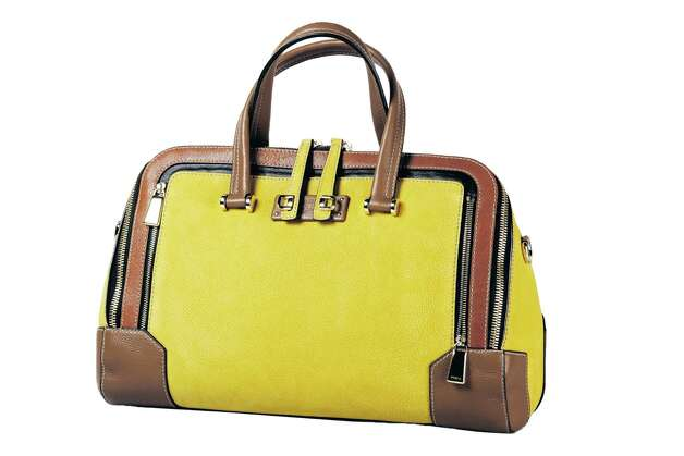 Furla Shopper bag in mustard with leather trim, $895, Saks Fifth Avenue Photo: Julysa Sosa, Staff / San Antonio Express-News