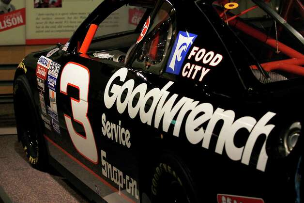 Dale Earnhardt's Brickyard 400 winning #3 Goodwrench Chevrolet is shown during the Saratoga Auto Museum's ?Moonshine to Millionaires:  NASCAR History, Heroes and Technology? exhibit which runs through Nov. 25 in Saratoga Springs, N.Y.  Photo taken Monday, July 16, 2012. (Dan Little/ Special to the Times Union) Photo: Dan Little / 00018440A