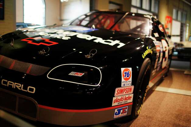 Dale Earnhardt's Brickyard 400 winning #3 Goodwrench Chevrolet is shown during the Saratoga Auto Museum's ?Moonshine to Millionaires:  NASCAR History, Heroes and Technology? exhibit which runs through Nov. 25 in Saratoga Springs, N.Y.  Photo taken Monday, July 16, 2012. (Dan Little/ Special to the Times Union) Photo: Dan Little / Copyright: All Rights Reserved Brett Carlsen