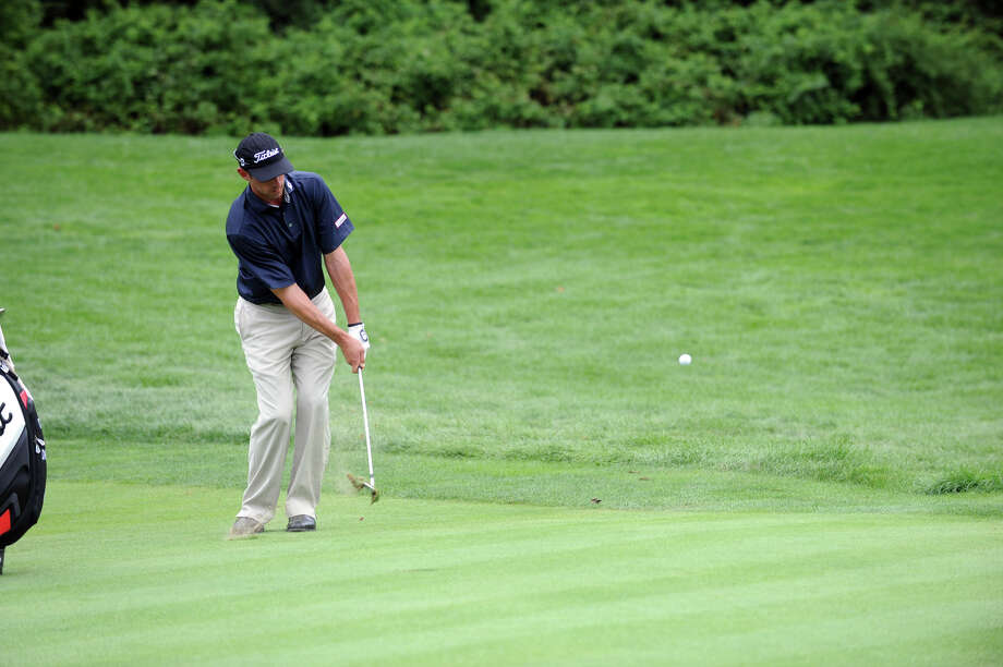 Daniel Balin in action as he works toward a third place finish during the 78th Connecticut Open Championship at Wee Burn Country Club in Darien, Conn., August 1, 2012. Photo: Keelin Daly / Stamford Advocate