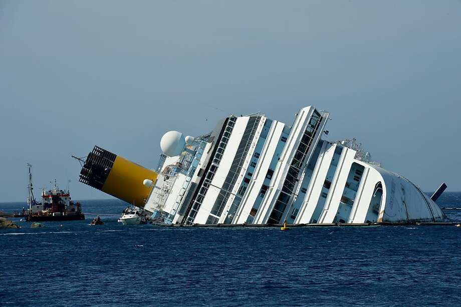 The Costa Concordia wreck was typical of most wrecks since 1850 - every man for himself. Photo: Vincenzo Pinto, AFP/Getty Images