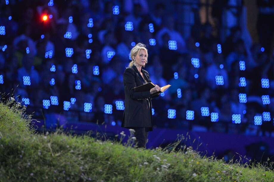 Harry Potter author J.K. Rowling takes part in the opening ceremony of the London 2012 Olympic Games on July 27, 2012 at the Olympic Stadium in London.   (Jewel Samad/Getty) (JEWEL SAMAD / AFP/Getty Images)