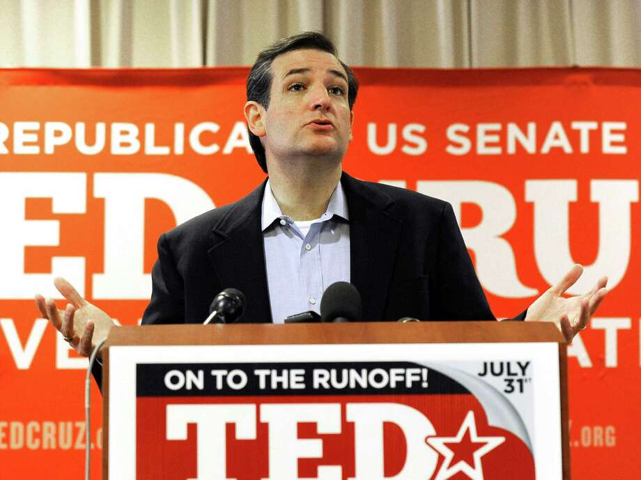 Texas Republican Senate candidate Ted Cruz speaks to the media Wednesday, Aug. 1, 2012, in Houston a day after trouncing Lt. Gov. David Dewhurst in a runoff. Photo: Pat Sullivan, Associated Press / AP