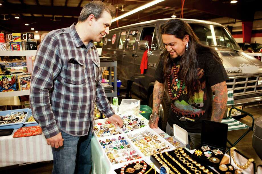 "In this publicity photo provided by WGBH, a scene from the TV show, ""Market Warriors"" that premiered on PBS on July 16, 2012 is shown. The list of television shows about hunting for elusive treasure amid mountains of discarded junk keeps on growing like a suburban landfill. At least three new entries are premiering this summer, adding to the already double-digit roster of reality shows about ""pickers"" and pawn shop owners and people who bid for the contents of storage containers. (AP Photo/WGBH, David Aaron Troy) Photo: David Aaron Troy, Associated Press / WGBH"