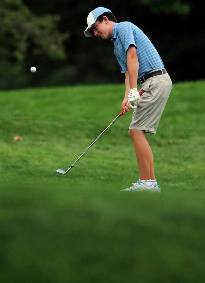 Connor O'Brien, of Norwalk, competes in the Borck Memorial Golf Tournament Wednesday, August 1, 2012 at Mill River Country Club in Stratford, Conn. Photo: Autumn Driscoll / Connecticut Post