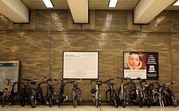 Bicycles are seen at the Civic Center BART station on Tuesday, July 31, 2012, in San Francisco, Calif. Photo: Megan Farmer, The Chronicle