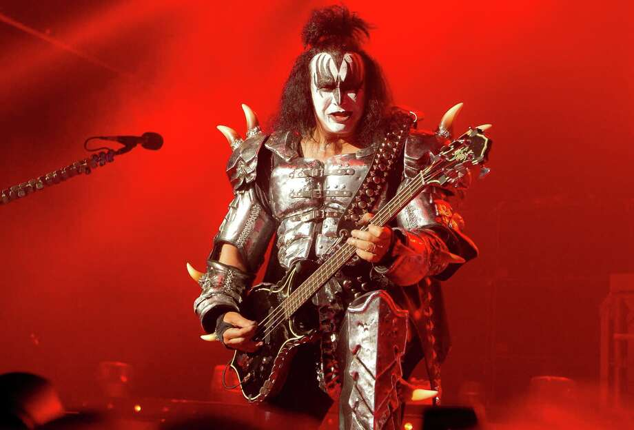 Gene Simmons, singer and bassist  of U.S rock band, Kiss, performs on stage at the Kentish Town Forum, north London, Wednesday, July 4 , 2012, in aid of the charity Help For Heroes. (AP Photo/Joel Ryan) Photo: Joel Ryan, Associated Press / AP