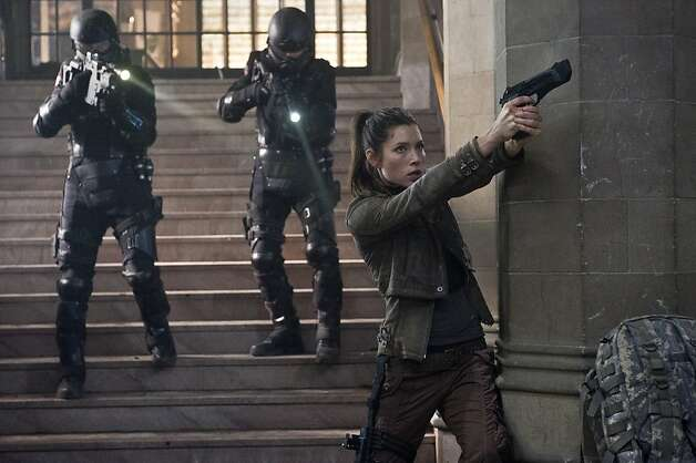 "Jessica Biel also stars in ""Total Recall."" Photo: Michael Gibson, Columbia Pictures"