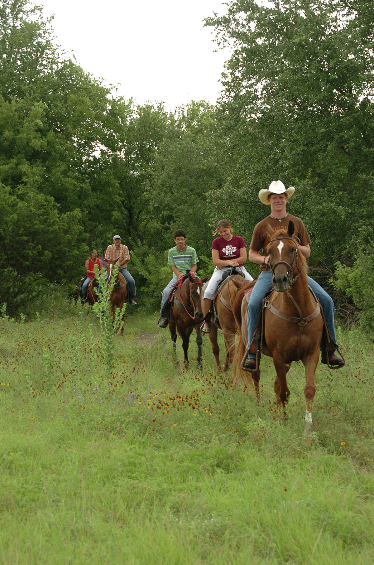 The Mayan Dude Ranch 350 Mayan Ranch Rd, Bandera, Texas; phone: 830-796-3312 More than 330 acres of rural sprawl welcomes guests at this Hicks' family parcel. The prominent Lone Star State relatives founded this facility in 1951, and it kept the original moniker (which may explain why its name conjures images of Chichén Itzá, not spurs). Families descend on this ranch for horseback rides, saloon-style dancing and refreshing swims in the nearby Medina River. Its family-friendly activities include lasso lessons for kids and a petting-zoo-like range of friendly animals to enjoy. Rates here are all inclusive: they include meals, lodging, ranch fun and drinks.