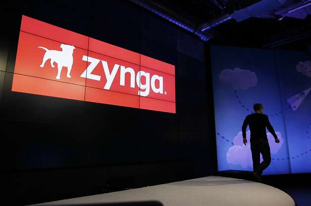 FILE- In this Tuesday, June 26, 2012 file photo, Zynga CEO Mark Pincus walks off the stage after an announcement of new games at Zynga headquarters in San Francisco. Zynga's stock is tanking after the online game maker reported a loss in the second quarter on Wednesday, July 25, 2012, with adjusted earnings and revenue below Wall Street's already-low expectations. (AP Photo/Paul Sakuma, File) Photo: Paul Sakuma, Associated Press