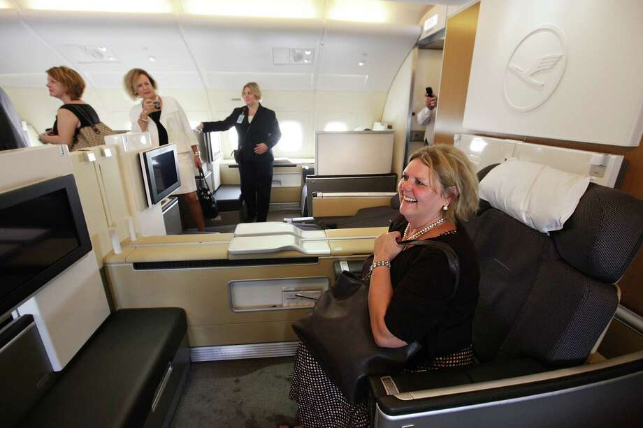 Guests take tours of the First Class area. Photo: Mayra Beltran, Houston Chronicle / © 2012 Houston Chronicle