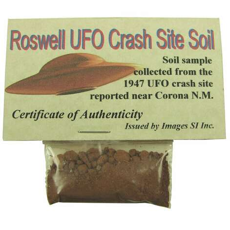 ROSWELL SOIL SAMPLE: Wow, do agents Scully and Mulder know about this? For only $12.95, the X-Files could be solved. (View on Amazon.)