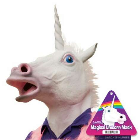 MAGICAL UNICORN MASK: I think it's safe to say there is nothing magical about this mask. It's terrifying at best. (View on Amazon.)