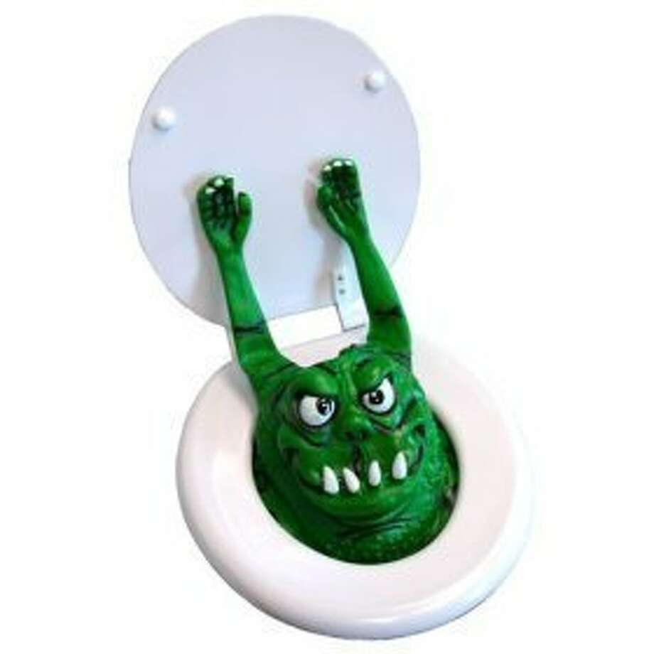 TOILET MONSTER: Ahhhhh! No need for a toilet after you scare your guests with this oddity. (View on Amazon.)