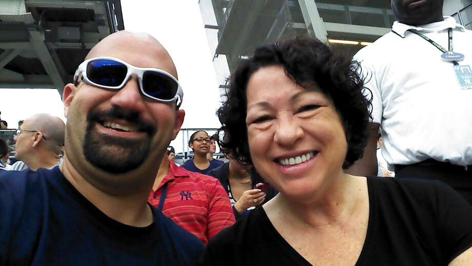 """Bald Vinny"" Milano sat briefly with  Supreme Court Justice Sonia Sotomayor on Wednesday. Photo: ""Bald Vinny"" Milano / ""Bald Vinny"" Milano"