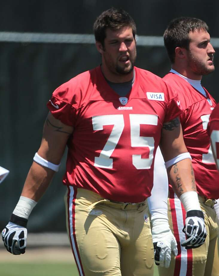 Alex Boone attends practice at the 49ers facility in Santa Clara, Calif. on Thursday, June 14, 2012. Photo: Mathew Sumner, Special To The Chronicle