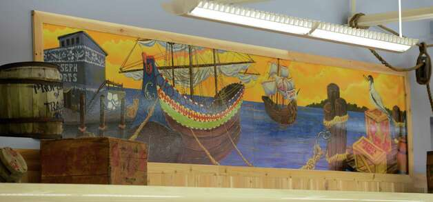 Interior view of some of the artwork at the new Trader Joe's in Colonie.    (Skip Dickstein / Times Union) Photo: Skip Dickstein / 00018537A