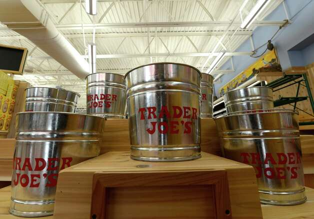 Soon there will be fresh flowers in these buckets at the new Trader Joe's in Colonie, N.Y. July 31, 2012.  The store is scheduled to open on Friday August 3, 2012.      (Skip Dickstein/Times Union) Photo: Skip Dickstein / 00018537A