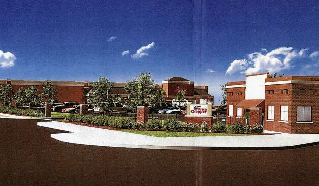Rendering of the proposed Price Chopper site at St. Patrick's Church in Watervliet, viewed from 19th Street and 6th Ave. (City of Watevliet from Nigro Companies proposal)