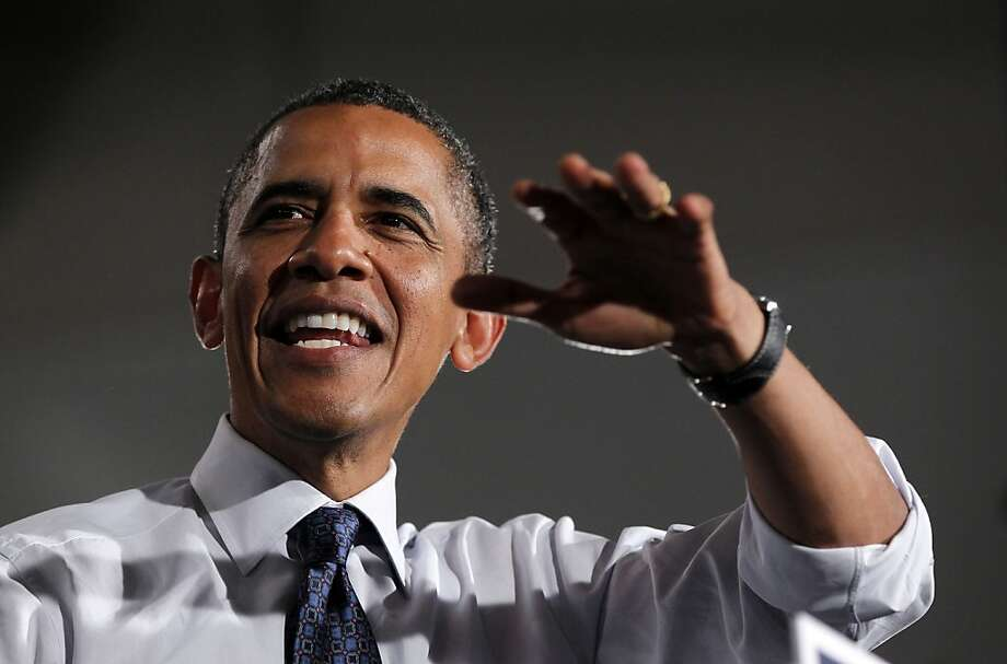 President Obama speaks at a campaign event in Akron, Ohio, on Wednesday. Photo: Pablo Martinez Monsivais, Associated Press