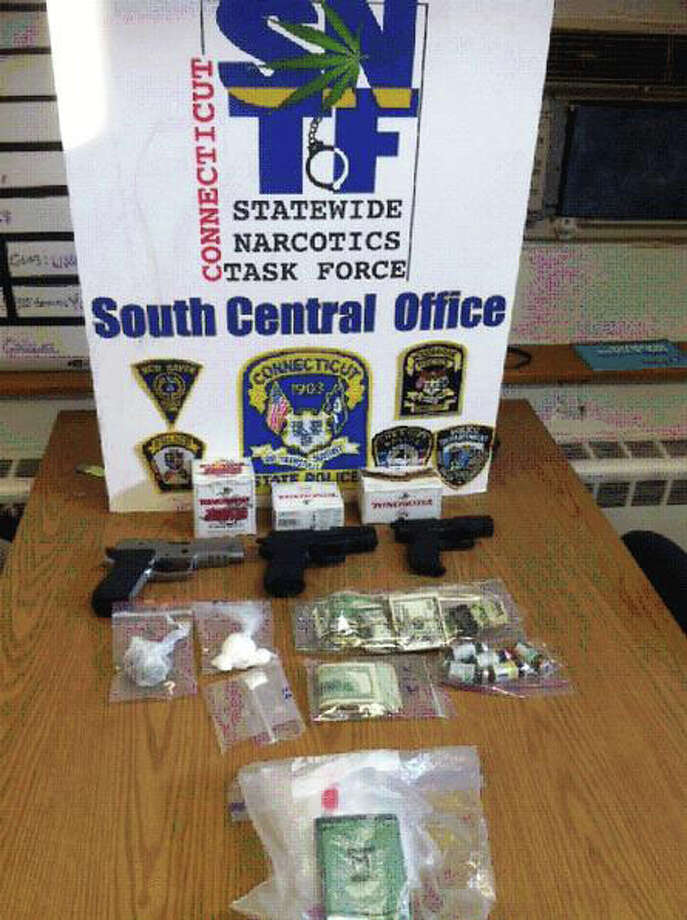 State Police seized cocaine, marijuana, anabolic steroids, cash and three handguns in a raid on a Milford, Conn. residence on Thursday, August 2, 2012. 31-year-old Thomas Brockert faces several narcotics charges as a result of a monthlong investigation, police said. Photo: Contributed