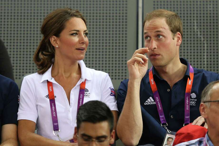 LONDON, ENGLAND - AUGUST 02:  Catherine, Duchess of Cambridge and Prince William, Duke of Cambridge watch the track cycling on Day 6 of the London 2012 Olympic Games at Velodrome on August 2, 2012 in London, England. Photo: Bryn Lennon, Getty Images / 2012 Getty Images