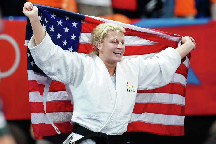 LONDON, ENGLAND - AUGUST 02:  Gold medalist Kayla Harrison of the United States in the Women's -78 kg Judo on Day 6 of the London 2012 Olympic Games at ExCeL on August 2, 2012 in London, England. Photo: Laurence Griffiths, Getty Images / 2012 Getty Images