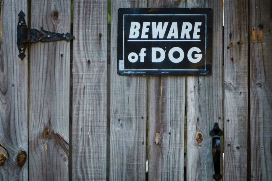 """A number of Ranch Country homes have """"Beward of Dog"""" signs on their fences. (Michael Paulsen / Houston Chronicle) Photo: Michael Paulsen / © 2012 Houston Chronicle"""
