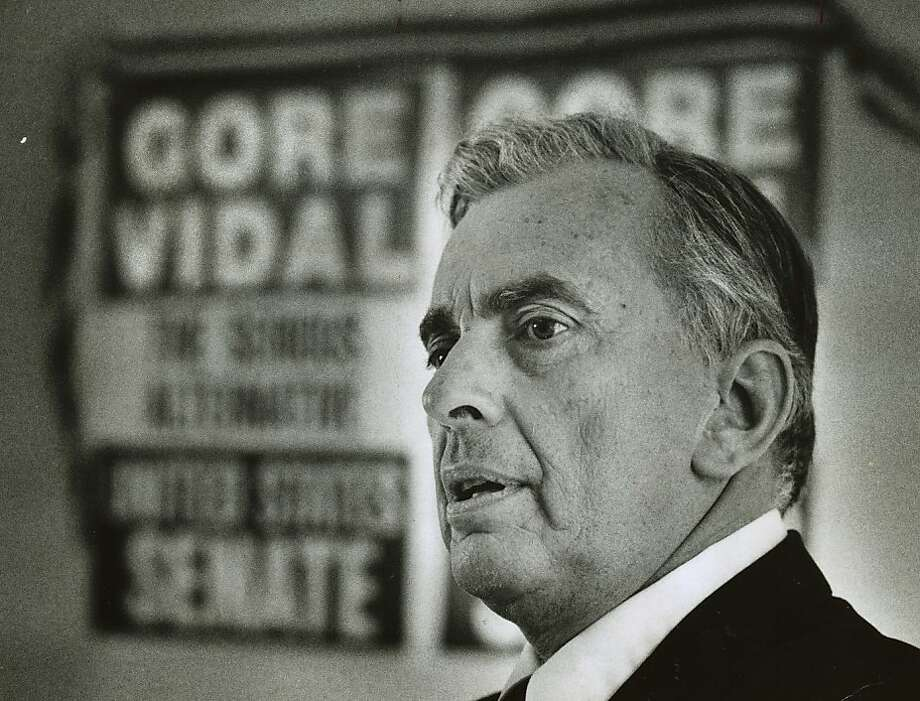 Vidal_03.jpg  June 1, 1982 - Novelist Gore Vidal.  Chris Stewart Chronicle File Photo: Chris Stewart, Chronicle File