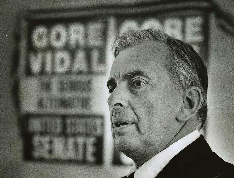 Vidal_03.jpg  June 1, 1982 - Novelist Gore Vidal.  Chris Stewart Chronicle File Photo: Chris Stewart, Chronicle File