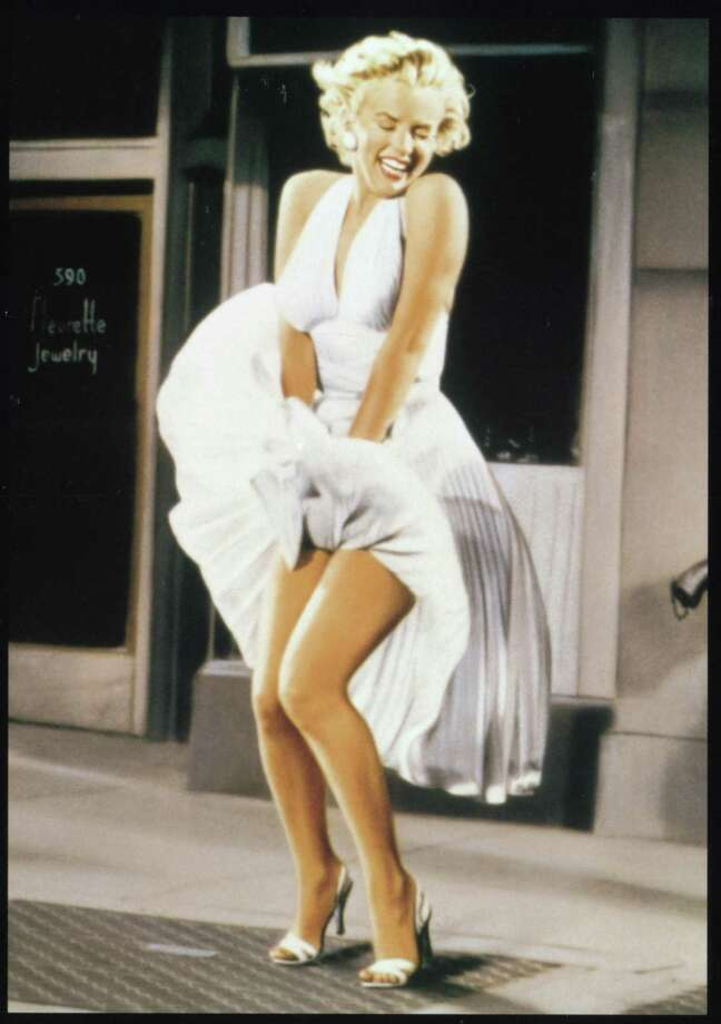 "Marilyn Monroe in ""Seven Year Itch"" - famous skirt-blowing scene filmed on September 15th, 1954 at the corner of Lexington and 52nd Street. / Handout"