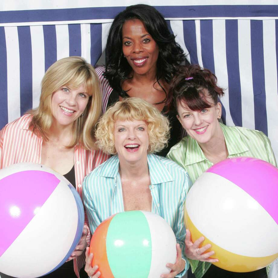 "The new musical at the Norma Terris Theatre in Chester, ""The Bikinis."" stars (clockwise from the top) Regina LeVert, Meghan Duffy, Karyn Quakenbush and Lori Hammel. The show follows the reunion of four women who had a pop singing group on the Jersey Shore in the 1960s. The show is running from Aug. 9 to Sept. 9. Photo: Contributed Photo / Connecticut Post Contributed"