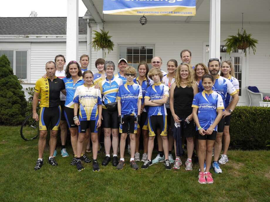 Team Darien-New Canaan poses for a picture before the 2012 CT Bike Ride Challenge in Westport on Saturday. Photo: Contributed Photo / CT Photo: Contributed