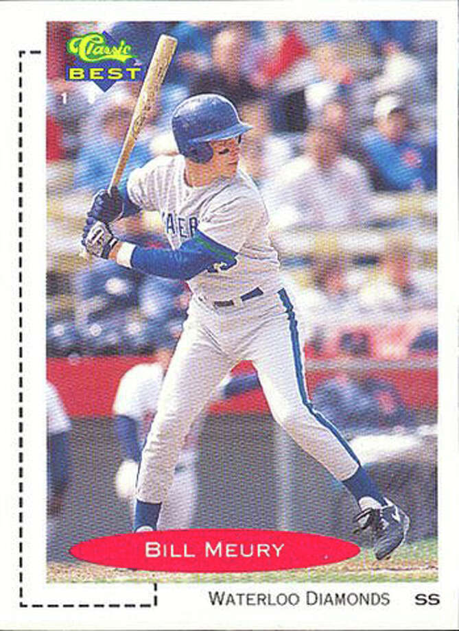Fairfield American manager Bill Meury's 1991 baseball card. Meury played 121 games in Single-A Waterloo in 1991. Photo: Contributed Photo