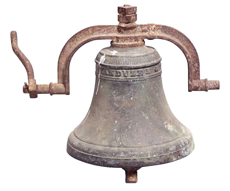 This 13-inch-high bronze bell sold for $823 at a Garthís auction in Delaware, Ohio. Its presale estimate was $1,500 to $3,000. The name ìVanduzen and Tiftî and the date ì1864î are cast into the bell. Photo: Contributed Photo