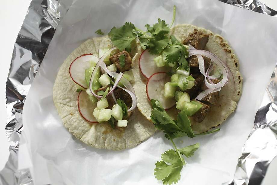 Lamb Carnitas With Tomatillo-Lemon Verbena Salsa Photo: Craig Lee, Special To The Chronicle